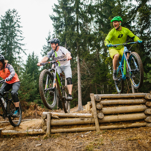 Mountainbiking at Area One in the Region Villach