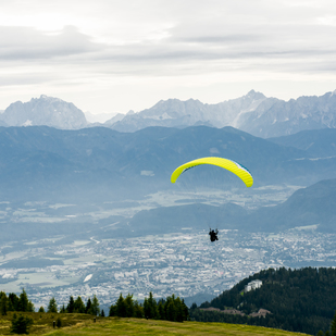 View over the region Villach