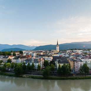 Villach with a view on the main church